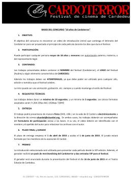 FORMULARIO DE PARTICIPACIÓN EL CARDOT – Av. Rei en