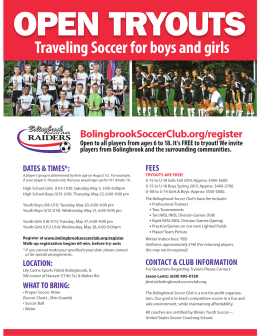 Traveling Soccer for boys and girls