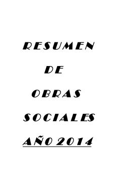 Resumen Obras Sociales 2014 - Colegio de Farmaceuticos de