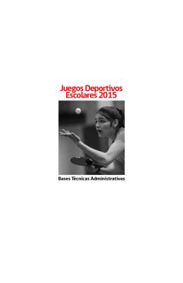 Juegos Deportivos Escolares 2015