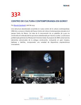 332 centro de cultura contemporanea en gorky