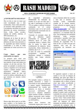 Hoja Informativa de RASH Madrid
