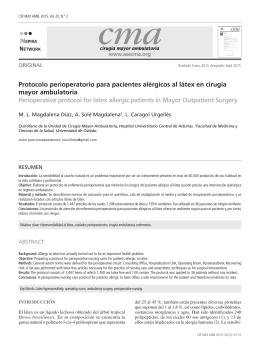 Protocolo perioperatorio para pacientes alérgicos al látex