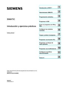SIMATIC STEP 7 Introducción y ejercicios prácticos