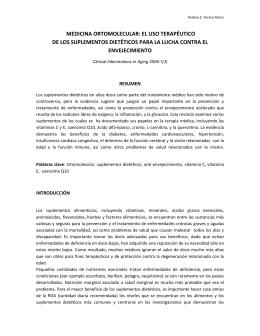 medicina ortomolecular: el uso terapéutico de los