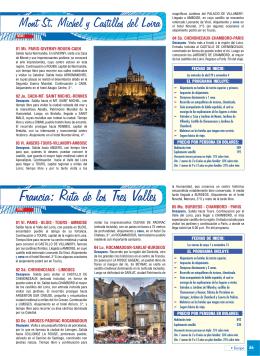 Mont St. Michel y Castillos del Loira