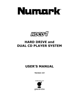 HARD DRIVE and DUAL CD PLAYER SYSTEM USER`S MANUAL