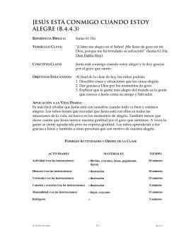 JESÚS ESTÁ CONMIGO CUANDO ESTOY ALEGRE (B.4.4.3)