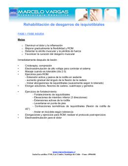Rehabilitación desgarro isquiotibiales