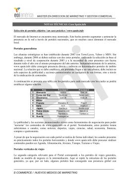 E-COMMERCE / NUEVOS MEDIOS DE MARKETING NOTAS