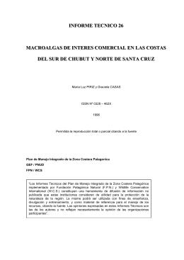informe tecnico 26 macroalgas de interes comercial en las costas
