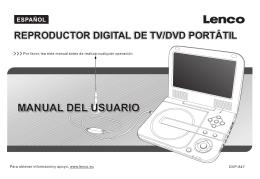 Manual Reproductor Digital de TV/DVD Portátil Lenco