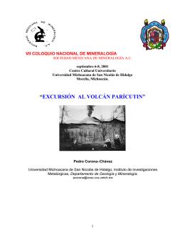 """""""EXCURSIÓN AL VOLCÁN PARÍCUTIN"""""""