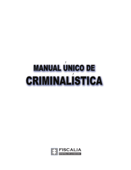 Manual Criminalística Colombia - Procuraduría General de Justicia