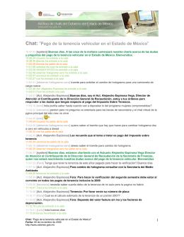 """Chat: """"Pago de la tenencia - Archivo de Chats del Gobierno del"""