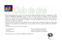 Ciclo de Cine Negro - IES Arucas