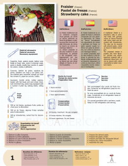 Fraisier (France) Pastel de fresas (Francia) Strawberry cake (France)