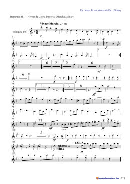 Partituras Ecuatorianas de Paco Godoy Trompeta Bb1 Héroes de