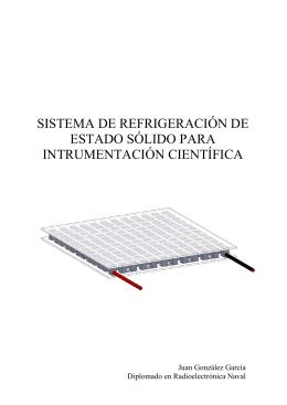 sistema de refrigeración de estado sólido para intrumentación