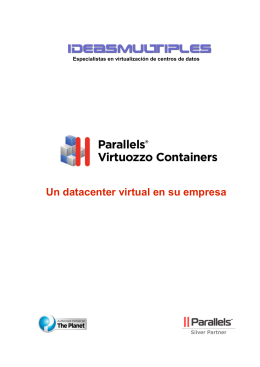 Virtuozzo, un centro de datos virtual para su empresa