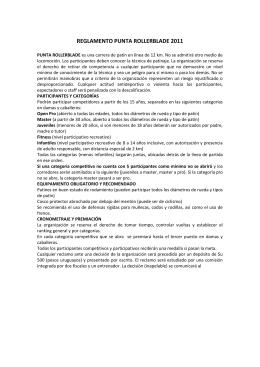 REGLAMENTO PUNTA ROLLERBLADE 2011