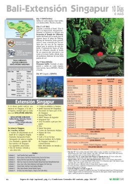 Bali-Extensión Singapur