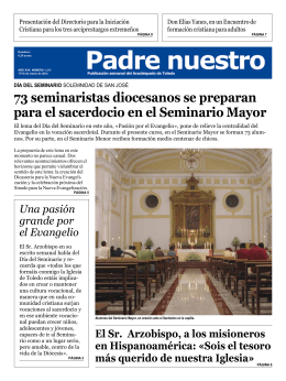 73 seminaristas diocesanos se preparan para el sacerdocio en el