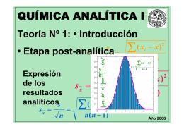 Química Analítica I - Facultad de Bioquímica y Ciencias Biológicas