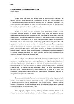CARTA DE AMOR AL COMPÁS DE LA BULERÍA