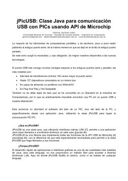 jPicUSB: Clase Java para comunicación USB con PICs