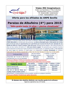 Paraiso de Albufeira (4*) para 2015