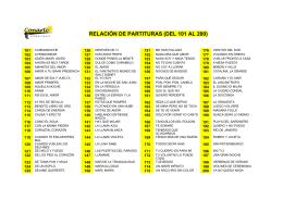 DANIEL MUNETA - PARTITURAS DEL 101 AL 200