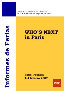 who´s next y première classe 2007