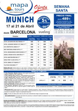 10-01-2014 Semana Santa Munich Bcn desde