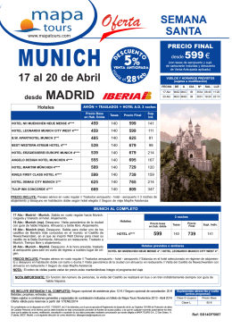 10-01-2014 Semana Santa Munich Madrid desde