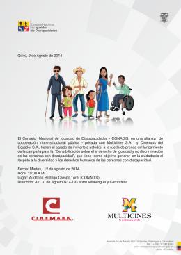 boletin de cines - Consejo Nacional de Igualdad de Discapacidades