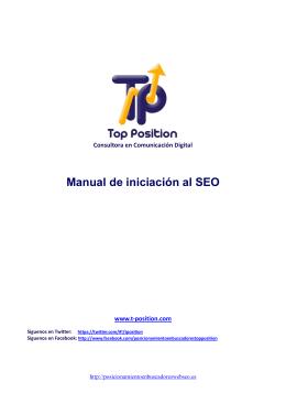 Manual de iniciación al SEO