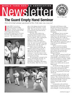 April 2007 - The World Tang Soo Do Association