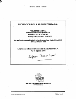 PROMOCION DE LA ARQUITECTURA S.A. - Repositorio