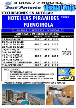 HOTEL LAS PIRAMIDES **** FUENGIROLA
