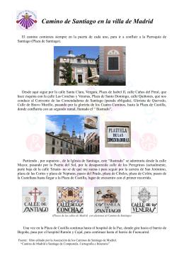 Camino de Santiago en la villa de Madrid