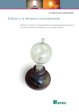 Edison y la lámpara incandescente