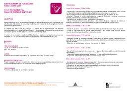 google skechup. programa - Colegio Oficial de Arquitectos Huelva