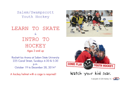 LEARN TO SKATE INTRO TO HOCKEY