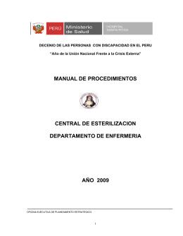 procedimientos del area roja