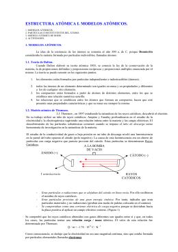 MODELOS ATOMICOS - BIOCHEMIApuntesdermedelparaTODOS