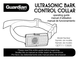 Ultrasonic Bark control collar