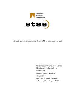 Estudio para la implantación de un ERP en una empresa textil
