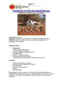 PAQUETE FACOS EN SUDAFRICA#1