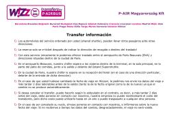 Transfer información